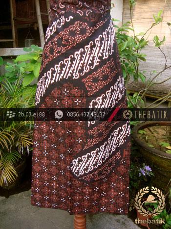 Kain Batik Cap Tulis Jogja Motif Parang Ukel Kombinasi