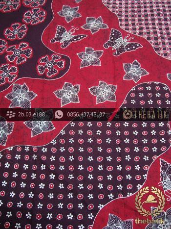Batik Tulis Jogja Motif Pulau Kupu-Kupu Merah