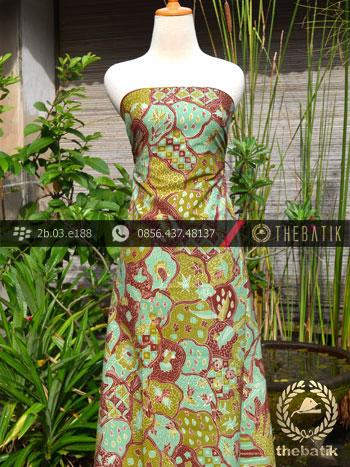 Batik Tulis Cirebon Motif Sekarjagad Hijau