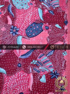 Batik Tulis Cirebon Motif Sekarjagad Pink Ungu