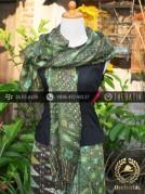 Sarung Selendang Batik Sutera Hijau