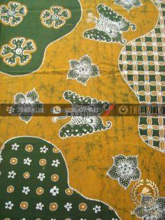 Batik Tulis Jogja Motif Pulau Kupu-Kupu Kuning Hijau