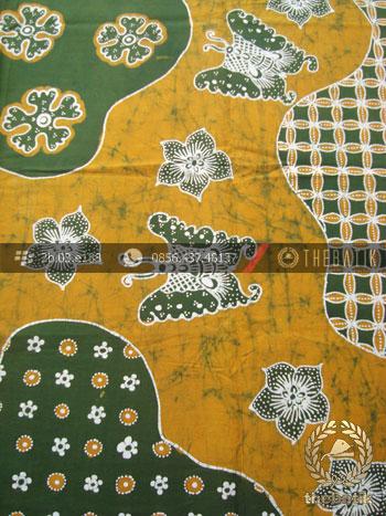 Batik Tulis Jogja Motif Pulau KupuKupu Kuning Hijau  THEBATIKcoid