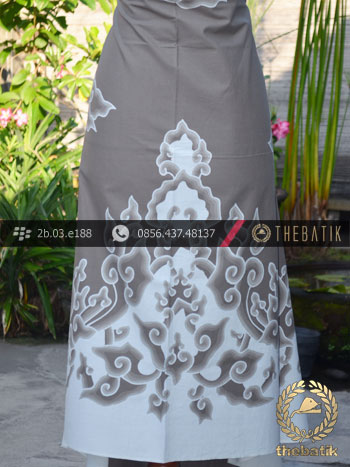 Batik Tulis Cirebon Motif Megamendung Abu-Abu