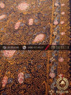 Kain Batik Sutera Motif Coletan Soga Genes