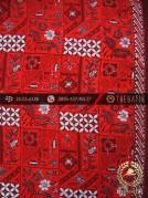 Batik Cap Tulis Jogja Motif Tambal Buketan Merah