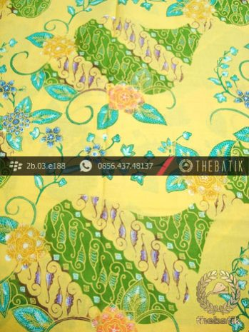 Kain Batik Coletan Motif Kombinasi Kuning