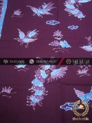 Batik Tulis Motif Merak Latar Ungu Terong