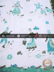 Batik Tulis Kumpeni Motif Noni Belanda Latar Putih
