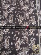 Kain Batik Warna Alam Motif Kontemporer Latar Hitam