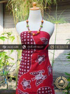 Batik Tulis Jogja Motif Pulau Kupu-Kupu Merah-2