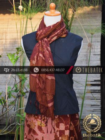 Sarung Selendang Batik Sutera Motif Buketan Jambon