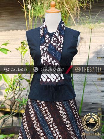 Kain dan Selendang Batik Klasik Motif Parang Kawung