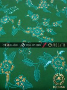 Kain Batik Tulis Jogja Motif Buket Daun Hijau