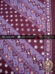Batik Cap Tulis Motif Lereng Kelir Ungu