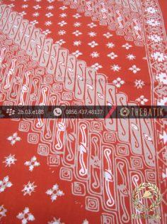 Batik Cap Tulis Motif Lereng Kelir Orange