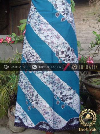 Batik Tulis Jogja Motif Lereng Remukan Biru