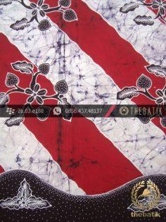 Batik Tulis Jogja Motif Lereng Remukan Merah