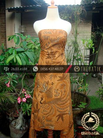 Jual Batik Solo Kombinasi Tulis Motif Peksi Soga Genes  7c4904f29f