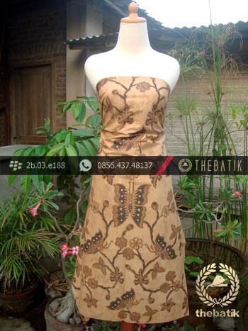Jual Batik Solo Kombinasi Tulis Motif Kupu Soga Genes  3153b1c8a5