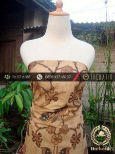 Batik Solo Kombinasi Tulis Motif Kupu Soga Genes