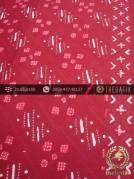Batik Cap Tulis Jogja Motif Ceplok Abimanyu Merah