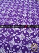 Batik Cap Motif Kawung Benggol Ungu Kelengan