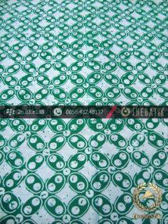 Batik Cap Motif Kawung Sen Hijau Kelengan