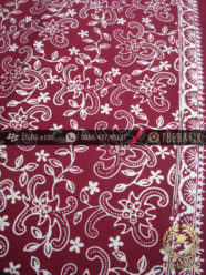 Batik Cap Motif Nithik Kembang Rambat Marun Kelengan