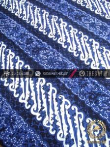 Batik Cap Tulis Jogja Motif Parang Curigo Seling Biru
