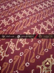 Batik Cap Tulis Jogja Motif Parang Jenggot Seling Maroon