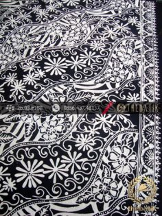Batik Cap Motif Lereng Kembang Hitam Kelengan