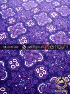 Batik Cap Tulis Jogja Motif Ceplok Kelir Ungu