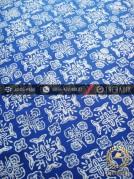 Batik Cap Motif Ceplok Biru Kelengan
