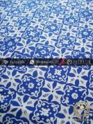 Batik Cap Motif Ceplok Matahari Biru Kelengan