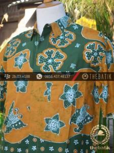 Kemeja Batik Tulis Motif Pulau Remukan Hijau