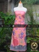 Batik Cap Motif Kupu-Kupu Merak Latar Jambon