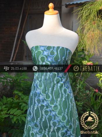 Batik Cap Tulis Jogja Motif Parang Barong Gradasi Hijau