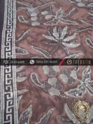 Kain Batik Warna Alam Motif Kontemporer Bunga-2