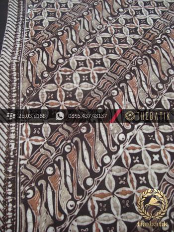 Kain Batik Warna Alam Motif Parang