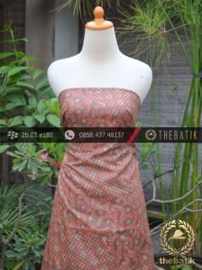 Kain Batik Cap Silky Motif Kontemporer Jingga
