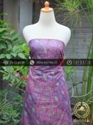 Kain Batik Cap Silky Motif Kontemporer Ungu