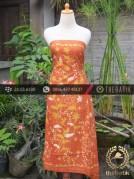 Batik Tulis Lasem Motif Buket Sulur Jingga