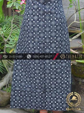 Batik Cap Tulis Jogja Motif Kawung Benggol Abu-Abu