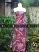 Kain Batik Tulis Pesisiran Motif Kembang Maroon