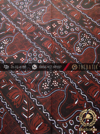 Kain Batik Tulis Jogja Motif Sekarjagad Lereng Hitam