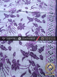 Kain Batik Sutera Pesisiran Motif Buketan Ungu
