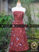 Kain Batik Tulis Motif Pagi Sore Merah Buketan