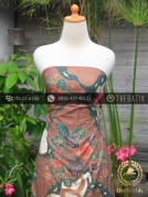 Batik Cap Tulis Pesisir Motif Pulau Kombinasi Coklat