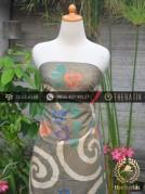 Batik Cap Tulis Pesisir Motif Pulau Kombinasi Hijau